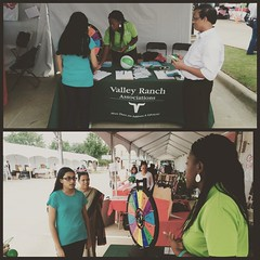 It's almost time to spin to win at the Valley Ranch Booth. #TasteOfIrving #SummerSwag #ValleyRanchMainStage