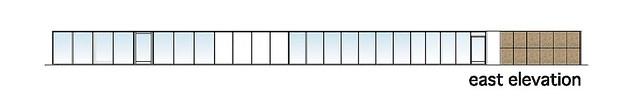 Photo:aat + Makoto Yokomizo - 富弘美術館 Tomihiro Art Museum - Drawings 06 - 東向立面圖 East Elevation By 準建築人手札網站 Forgemind ArchiMedia