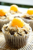 Flaxseed muffins with salted eggs & chicken floss