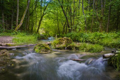sunset de landscape deutschland waterfall spring wasserfall bluesky alb badenwürttemberg reutlingen swabianalb