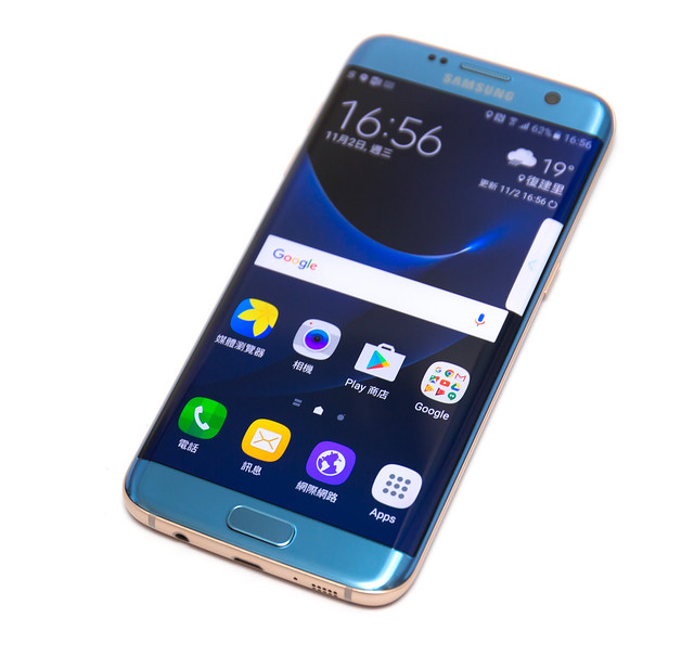 新色!依舊最強! Galaxy S7 Edge『冰湖藍』新色入手 / 超清多圖實機照 / 去背高解析 @3C 達人廖阿輝