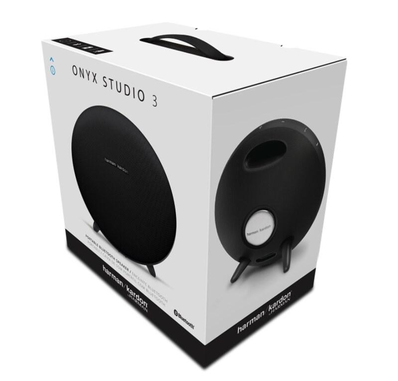 Harman Kardon Onyx Studio 3 Portable Bluetooth Speaker System - Black - In Box