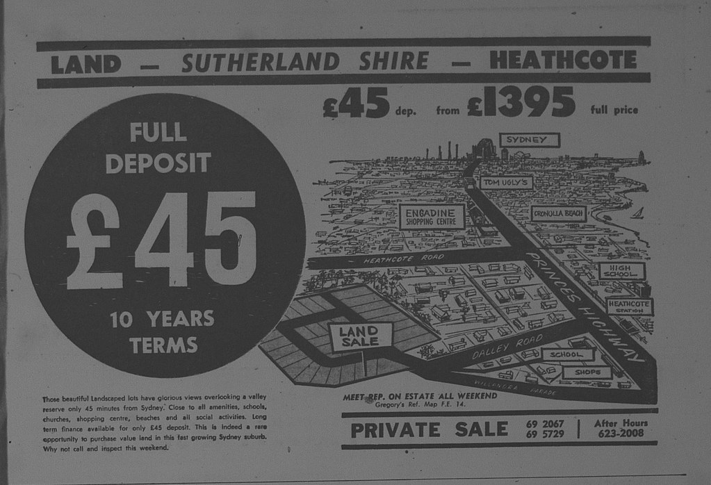 Heathcote Land Release Ad October 14 1966 the sun 65