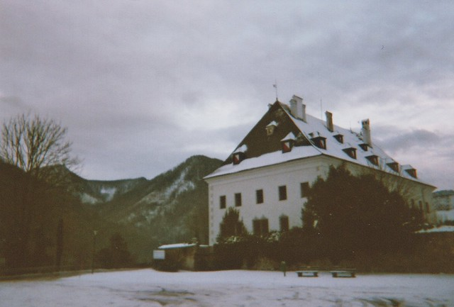 the castle on a dreary day in january