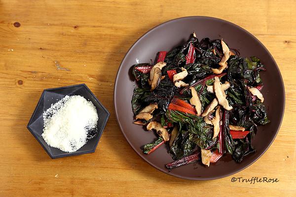 快炒莙薘菜和香菇-20161118