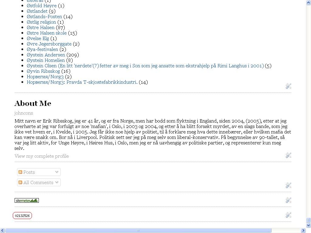 antall sidevisninger johncons blogg over to millioner