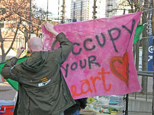 Photo: Alan Wilfahrt. Occupy Minneapolis retakes the park.