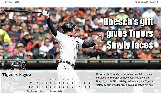2012 DETROIT TIGER SCHEDULE AND RESULTS 6925933382_9da2d35eb2_z