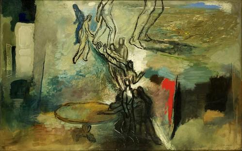 Annenkov, Yuri (1889-1974) - 1920-30 Men at the Table (Private Collection)