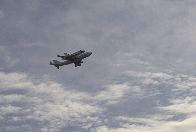 Discovery flies by our conference room