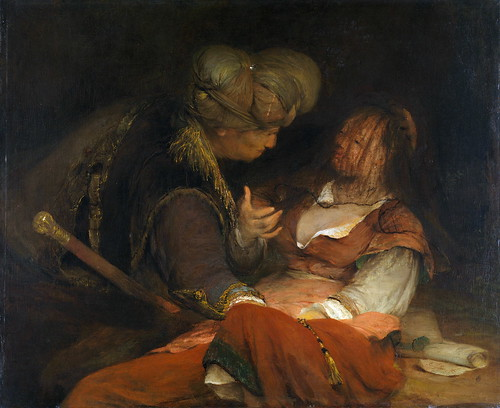 Aert de Gelder - Judah and Tamar [c.1681] by Gandalf's Gallery