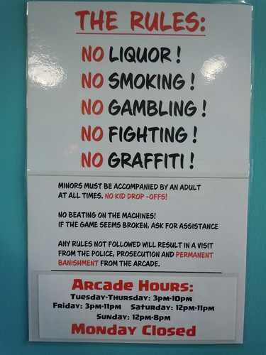 04-21-12 Rusty Quarters Arcade, Minneapolis, MN (The Rules)