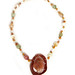 Andrea Rosenfeld: Copper Italian Marble Mookaite Crystal Silver Necklace