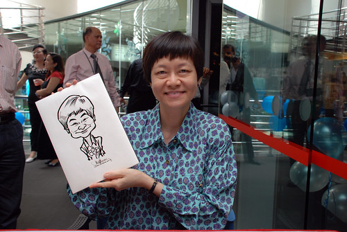 Caricature live sketching for Singapore Suntec City Annual Party - 4