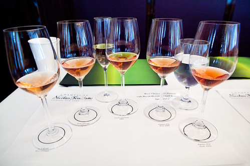 Wall of Nicolas Feuillate Rosé Champagnes
