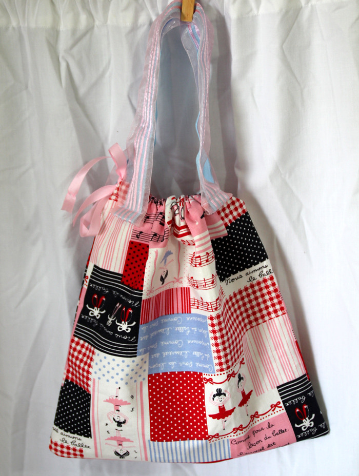 Easy Peasy drawstring bag...