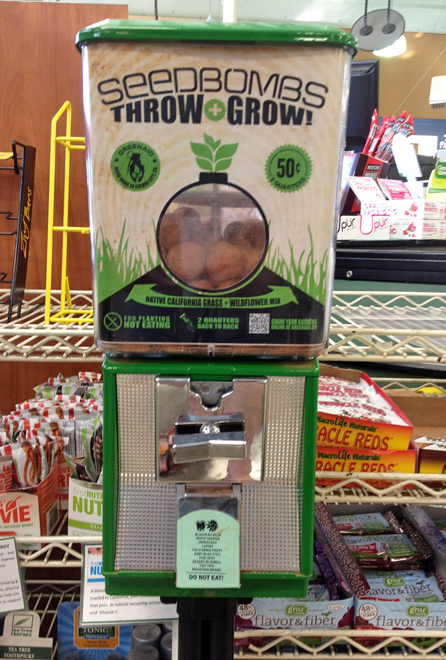 Seedbombs Vending Machine: Throw + Grow