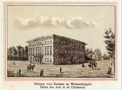 <p>Het Gebouw voor Kunsten en Wetenschappen te Utrecht. Anonieme prent uit 1875. Coll. Het Utrechts Archief.</p>