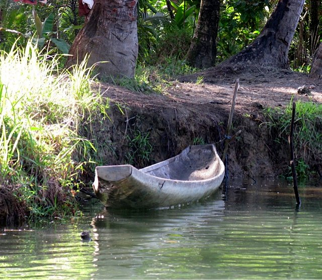 Filipino dugout canoe.