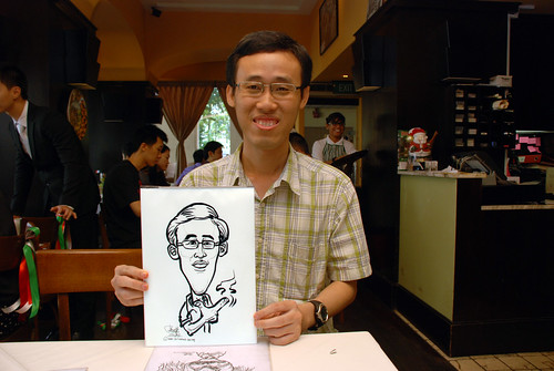 Caricature live sketching at La Noce Italian Restaurant -5