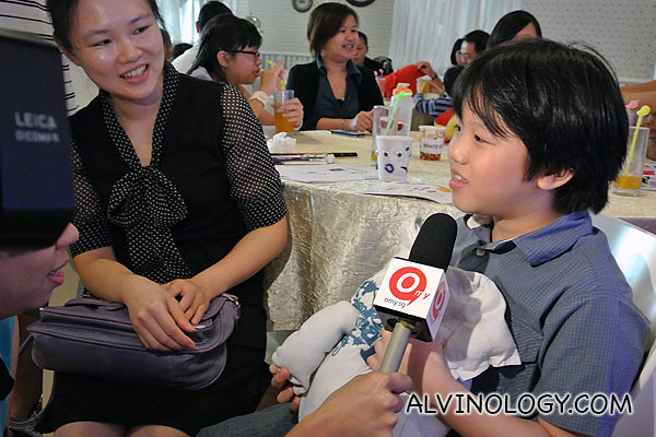 Another little boy getting interviewed