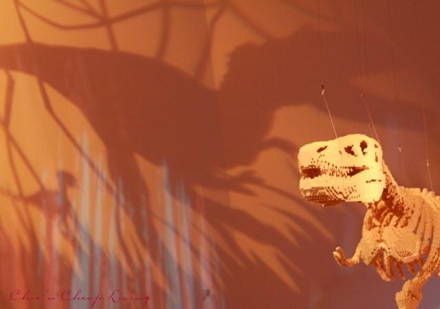 Art of the Brick Dinosaur Skeleton by Nathan Sawaya by Chic n Cheap Living