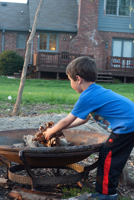 build a fire with kids