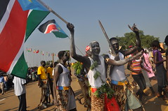 Traditional dancers during celebrations to mark South Sudan's first independence anniversary on Jul. 9, 2012 in Juba. South Sudan's government is preparing to launch a campaign to begin a healing and reconciliation process here. Credit: Charlton Doki/IPS