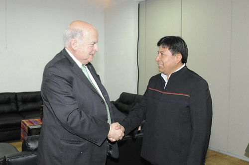 Secretary General Insulza meets with the Minster of Foreign Affairs of Bolivia