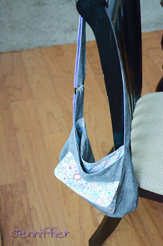 Finished sidekick tote