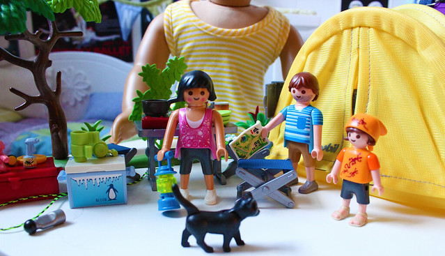 Playing Playmobil Camping