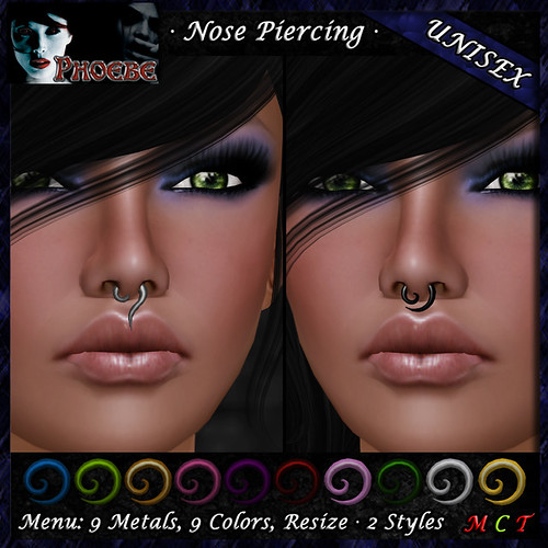 *P* Unisex Spiral Piercings ~9 Metals-9 Colors~