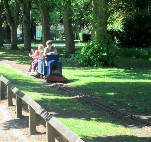 train in Beveridge Park, Kirkcaldy, Fife.