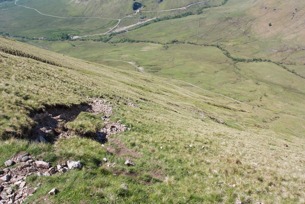 Steep path up Beinn Eunaich