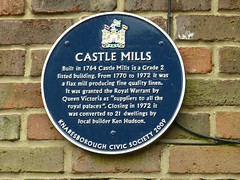 Photo of Castle Mills blue plaque