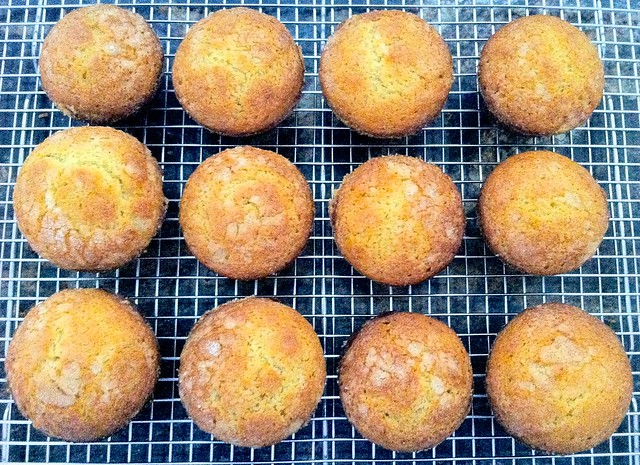 Corn Muffins, Cooling