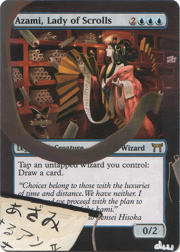 Azami, Lady of Scrolls Altered Art Magic by Diemwing