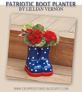 PATRIOTIC BOOT PLANTER BY LILLIAN VERNON
