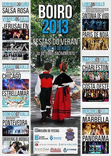 Boiro 2013 - Festas do Verán - cartel