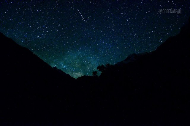Shooting star spotted above Naltar lake!