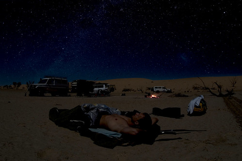 A selfie under the desert stars
