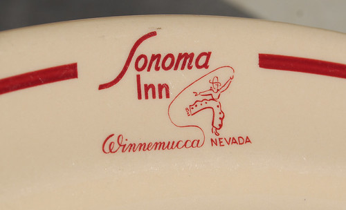 Sonoma Inn Plate, 1940's by Roadsidepictures