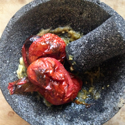 molcajete roasted salsa