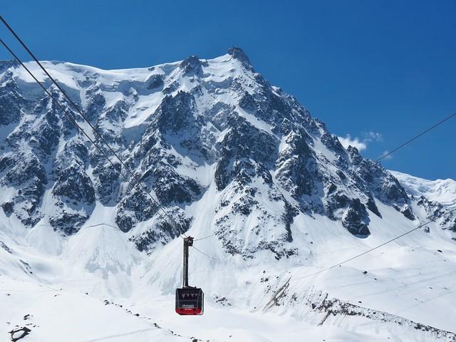cable car ride to aiguille du midi mont blanc france