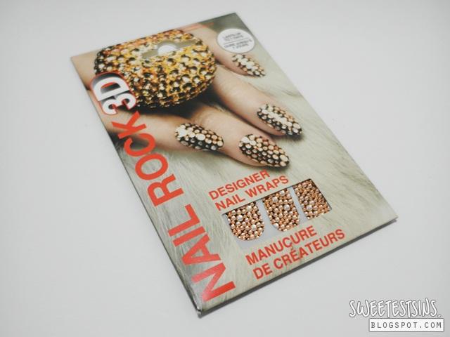 nail rock 3D designer nail wraps