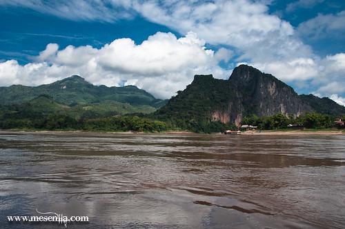 Mekong prop de Luang Prabang, Laos