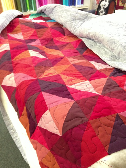 Kim's Quilt Ready to Bind