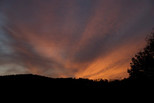 sunset usa clouds landscape vermont quechee
