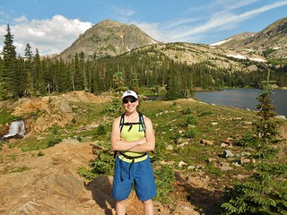 Clare at Devil's Thumb Lake (11,100 ft)