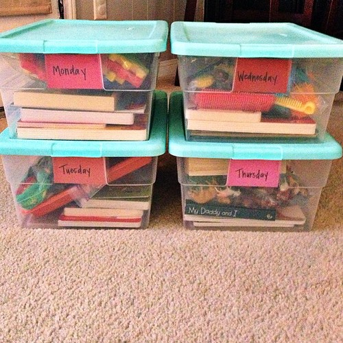 Yay, All By Myself Preschool Boxes for Chandler are done!! In the process of a Busy Box for little missy too.